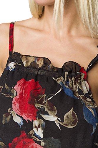 amp; Mujer Luxury Camiseta Para Mangas Sin Dessous Good Rojo Blanco 077Zd