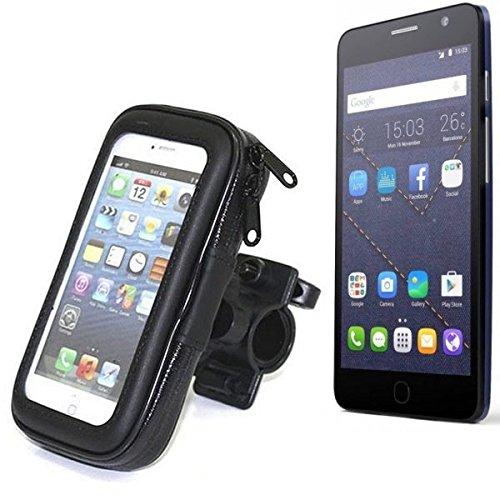 Montaje de la bici para Alcatel One Touch Pop Star 4G, montaje del manillar para smartphones / teléfonos móviles, de aplicación universal. Conveniente para la bicicleta, motocicleta, quad, moto, etc.