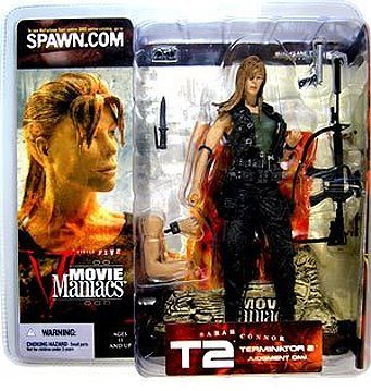 Movie Maniacs Series 5 Terminator 2 Judgment Day Sarah Connor Long Hair Variant Action Figure by McFarlane Toys by Movie Figures