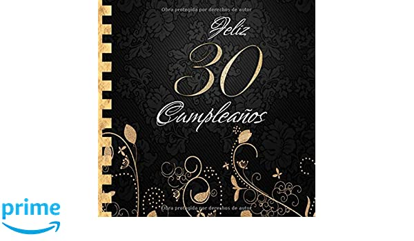 Feliz 30 Cumpleaños: Libro de Visitas I Elegante ...