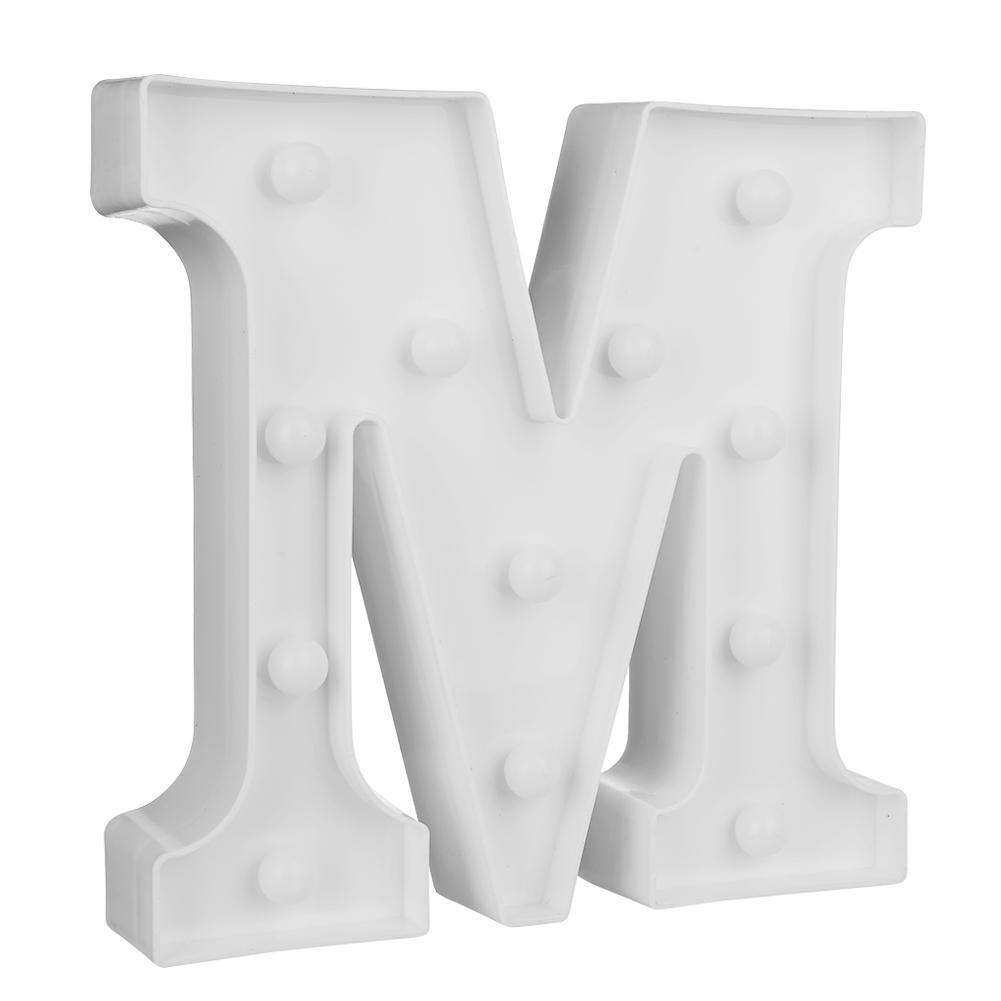 letrero de marquesina Letra 3D LED luz de noche para colgar en la pared l/ámpara de decoraci/ón del alfabeto