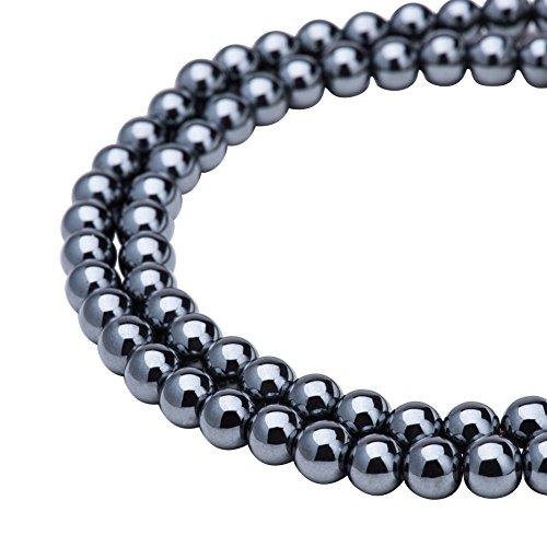 PandaHall Gorgeous Synthetical Hematite Gemstone