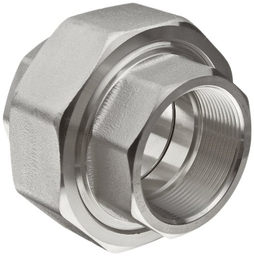 Merit Brass 304/304L Forged Stainless Steel Pipe Fitting, Union, Class 3000, 3/4'' National Pipe Taper Thread Female (Pack of 5) by Merit Brass