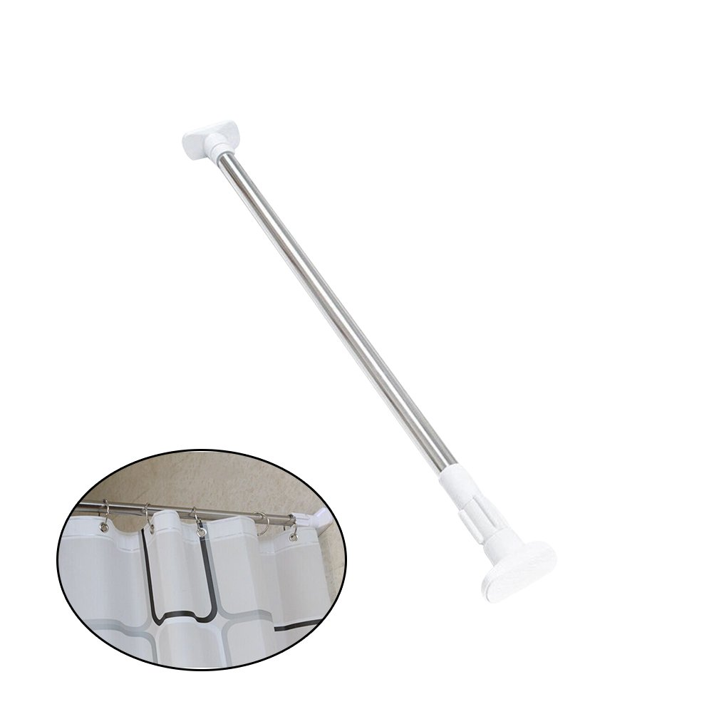 BESTOMZ Retractable Curtain Hanger/Shower Curtain Rod,Clothesline Pole/Clothes Drying Hanger Rod 50/ 80 cm