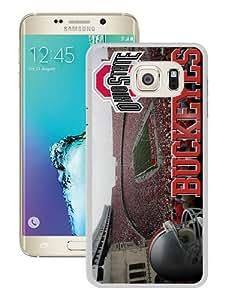 Popular Samsung Galaxy S6 Edge Plus Cover Case ,Ncaa Big Ten Conference Football Ohio State Buckeyes 24 White Samsung Galaxy S6 Edge+ Case Hot Sale And Unique Designed Phone Case