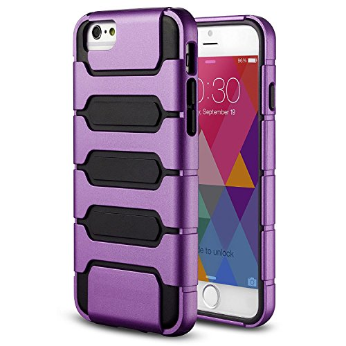 iPhone 6 Plus Case, iPhone 6 5.5 inch Case,Cool Design MagicSky Armor Shell Double Layer Shockproof Case Cover for Apple iPhone 6 Plus, 1 Pack(Black/Purple)