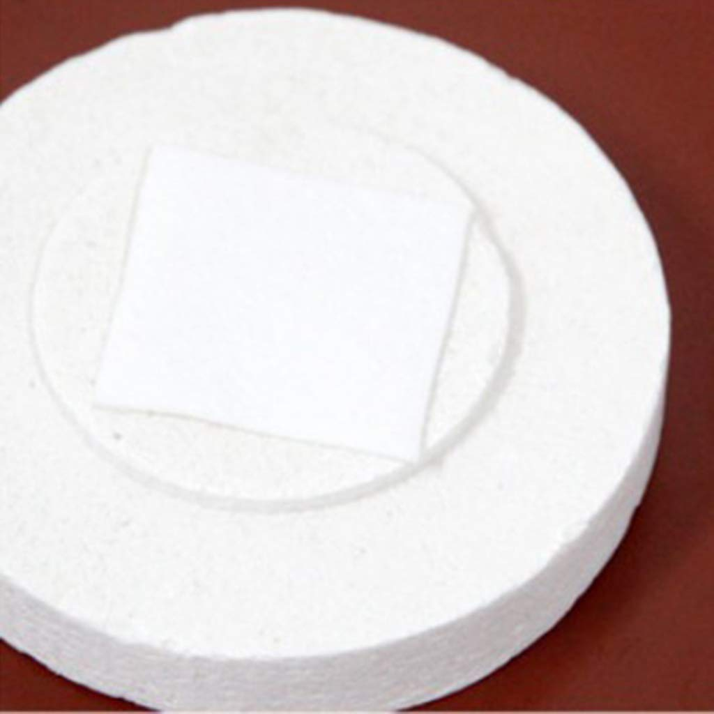 SM SunniMix 10pcs Microwave Kiln Glass Fusing Paper Ceramics Fibers White for Glass Art Jewelry Making Round 7cm White