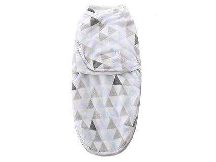 Manta Swaddle Saco de dormir con estampado de triángulo para bebés recién nacidos, antivibración,