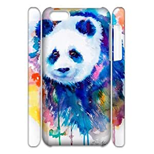 Customized Durable Case for Iphone 5C 3D, Panda Phone Case - HL-R654627