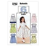 BUTTERICK PATTERNS B3762 Childrens' & Girls' Dress, Size 6-7-8
