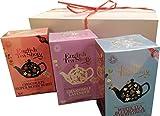 English Tea Shop Gift Boxed Set of 3 Organic Tea Flavors (White Tea, Chocolate, Chamomile) 2.8 oz.