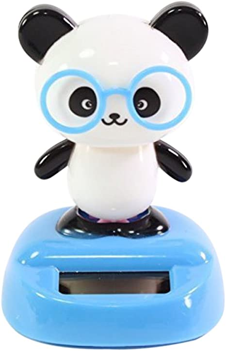 Solar Power Dancing Cake Panda Swinging Animal Figure Dancer Toys Decor Gift