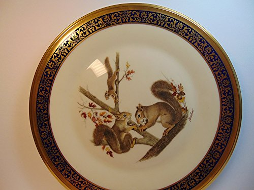 Art Collector Plate Collection - Lenox 1979 Woodland Wildlife Collection SQUIRRELS 10 1/2 Collector's Plate, Adapted from Original Works of Art