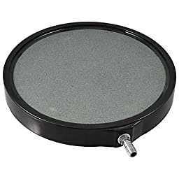 PREMIUM GRADE Carborundum 5 Inch Round Air Stone Bubbler Diffuser for Aquaponics • Aquaculture • Hydroponics • Ponds • Aquariums by Cz Garden Supply (5 inch)