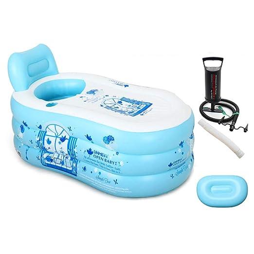 Bathtub Piscina Inflable Antideslizante para Adultos, Viaje ...