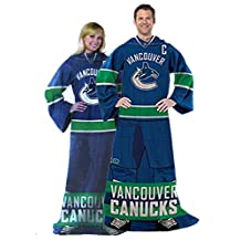 NHL Vancouver Canucks Captain Comfy Throw - The Blanket With Sleeves
