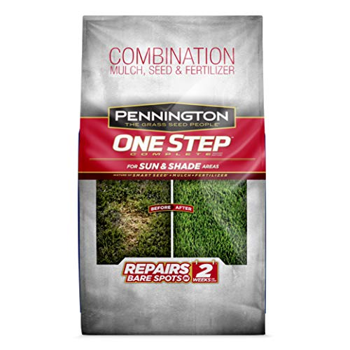 Pennington One Step Complete for Sun & Shade Areas, Bare Spot Repair Grass Seed Mix, 8.3 lb (Best Grass Seed Mix For New England)
