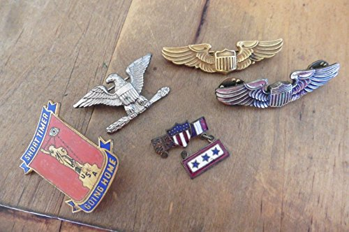 Lot of Pins US Sweetheart AEF US British French Flag WWI short timer eagle wings