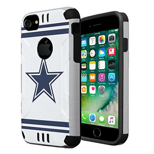 iPhone 7 Case, iPhone 6s Case, iPhone 6 Case, Capsule-Case Hybrid Dual Layer Slim Defender Armor Combat Case (Silver & Black) for iPhone 7 / iPhone 6S / iPhone 6 - (Cowboy)