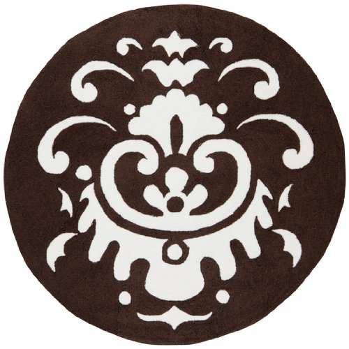 Chocolate 8rd - Surya Playground PLY-6026 Contemporary Hand Hooked 100% Polyester Chocolate 8' Round For Kids Area Rug
