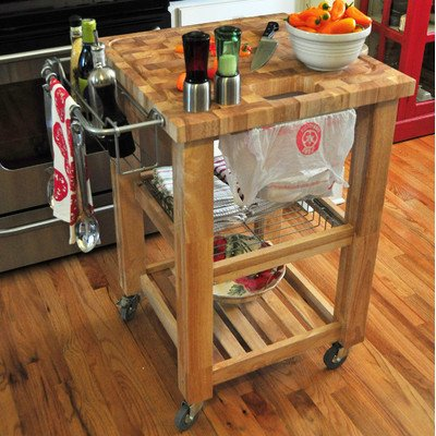 Pro Chef Kitchen Cart Base Finish: Natural Lacquer - Condiment Cart