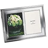 Vera Wang by Wedgwood Grosgrain 5-Inch by 7-Inch Double Frame