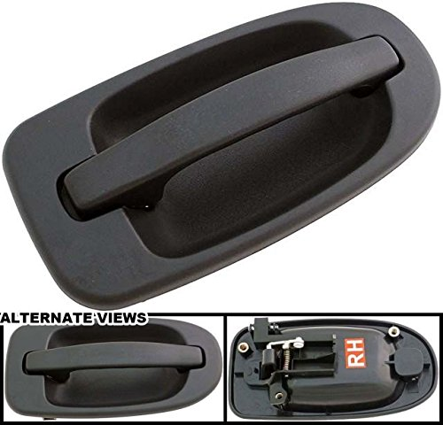 APDTY 94493 Exterior Door Handle Fits Side Right (Passenger) Sliding Door Textured Black 2005-2008 GM Uplander/1998-2005 Venture/1998-2004 Silhouette/1999-2006 Montana/1998 Trans Sport/2005-2007 Relay