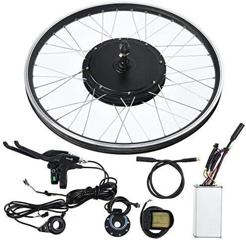 ホイール、48V 1500Wモーター付きマウンテンバイクEバイク変換キット26インチホイールKT-LCD5メーター電動Eバイクモーターキット(フロントドライブ)