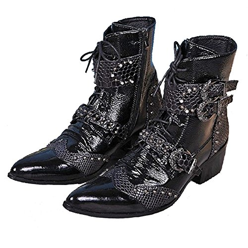 Pointed men's fashion formal leather boots ankle boots - 5