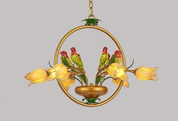 Lampadario a led in stile classico a forma di tulipano luci