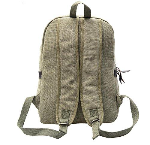 Xiuxiandianju Borse a spalla retrò-viaggi 20L per gli uomini e le donne moda semplice borsa a tracolla doppia