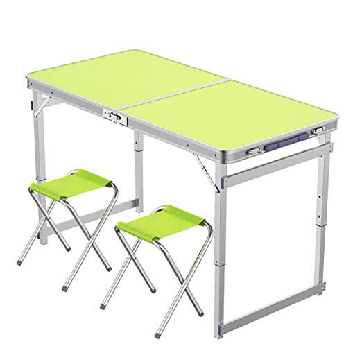 Mesa Plegable de Trabajo, Plegable de Metal y sillas, Escritorio ...