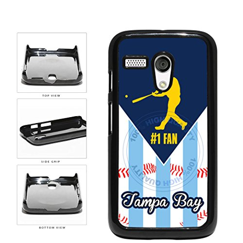 Tampa Bay Baseball Number One Fan Plastic Phone Case Back Cover For Motorola Moto G comes with Security Tag and MyPhone Designs(TM) Cleaning Cloth