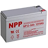 NPP NP12-9Ah 12V 9 Ah Rechargeable Sealed Lead Acid Battery F1 Terminals