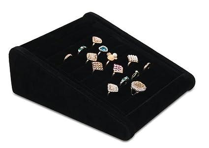 LFHT - Caja expositora de terciopelo para pendientes, gemelos, bandejas expositoras, anillos,