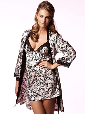 f09b7814bc2 La Senza Animal Floral Print Robe robe - Size  18 - Color  PINK WITH ...
