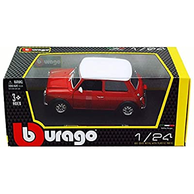 1969 Mini Cooper, Red - Bburago 22011 - 1/24 scale Diecast Model Toy Car: Toys & Games