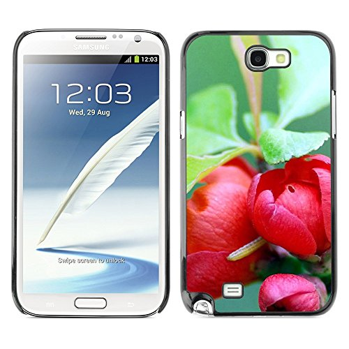 Soft Silicone Rubber Case Hard Cover Protective Accessory Compatible with SAMSUNG GALAXY NOTE 2 & N7100 - Plant Nature Forrest Flower 73