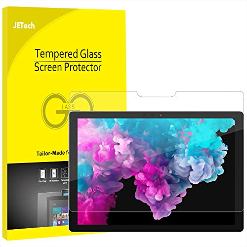 JETech Screen Protector for Microsoft Surface Pro 6 / Surface Pro (5th Gen) / Surface Pro 4, Tempered Glass Film (Best Pc Case For Dusty Environment)