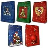 10 Geschenktüten Weihnachten XXL 71 x 50,5 x 18 cm RIESEN Geschenktaschen Weihnachtstüten 22-8621