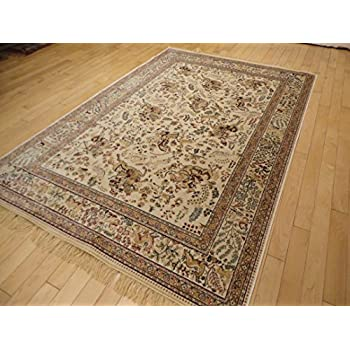 Silk Ivory Rugs 5x8 Rugs Animal Print White Rugs Luxury High End Soft  Traditional 5x7 Rugs