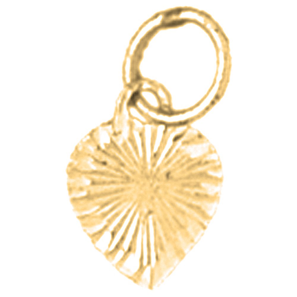 Jewels Obsession Heart Necklace 14K Yellow Gold-plated 925 Silver Heart Pendant with 18 Necklace