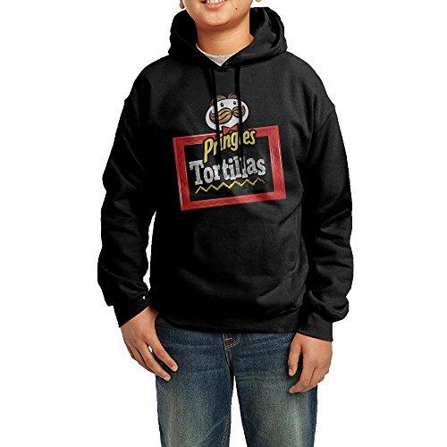 daboru-pringles-tortillas-logo-boys-and-girls-hooded-sweatshirt-black