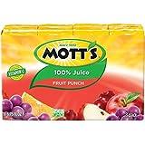 Mott's 100% Fruit Punch Juice, 6.75 fl oz boxes, 8 count (Pack of 4)