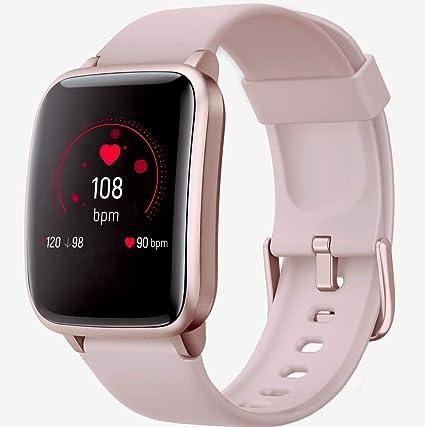 Smart Watch+Herzfrequenz- Schlafmonitor Schrittzähler für Kinder Frauen Männer