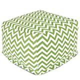 Majestic Home Goods Sage Zig Zag Ottoman, Large