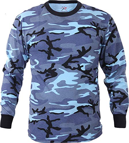 AccessoriesClothing New Tactical Camo Long Sleeve T-Shirt Military Camouflage Crew-Neck Tee Undershirt