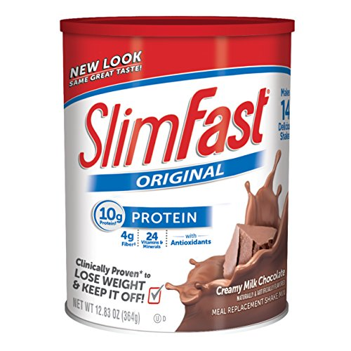 Slim Fast Original, Meal Replacement Shake Mix, Creamy Milk Chocolate, 12.83 Ounce (Meal Replacement Diets)