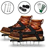 Lawn Aerator Shoes - Garden/Yard/Grass/Fertilizer/Tools - Adjustable Garden Tiller - Lawn Shoes - Adjustable Strap Gardening Shoe - Durable Spiked Sandals - Lawn/Turf Builder - Surface Spreader Sandal