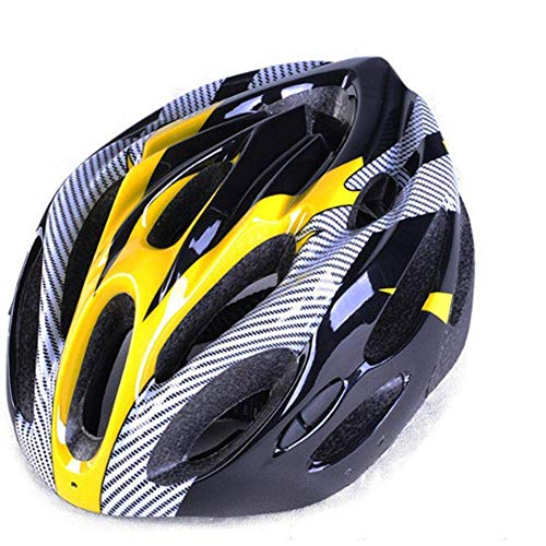 PO: Bicycle Helmet Helmet Bike Bike Cycling Helmet for Men's Women's Helmet On The Helmets Sporting Goods Mountain Bowl,Yellow